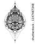 lotus  eye  sacred geometry....   Shutterstock .eps vector #1147487348