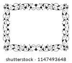 oriental floral ornamental... | Shutterstock . vector #1147493648