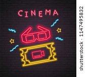 cinema ticket and cinema... | Shutterstock .eps vector #1147495832