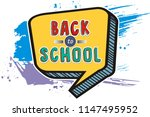 text back to school. in the... | Shutterstock .eps vector #1147495952