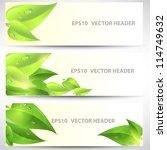 vector headers set | Shutterstock .eps vector #114749632