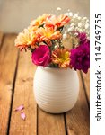 beautiful flower bouquet on... | Shutterstock . vector #114749755