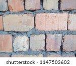 an old brick wall. ancient... | Shutterstock . vector #1147503602