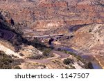 Winding Road And Salt River In...