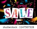 spring sale banner template...   Shutterstock . vector #1147507328