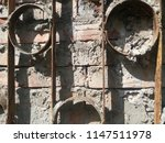 ancient wall of stone. metal... | Shutterstock . vector #1147511978