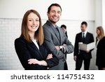group of business people  with... | Shutterstock . vector #114751432