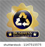 gold badge or emblem with... | Shutterstock .eps vector #1147515575