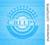 creepy light blue water badge... | Shutterstock .eps vector #1147529978
