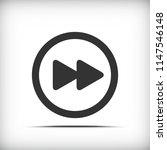 forward video button icon  ... | Shutterstock .eps vector #1147546148