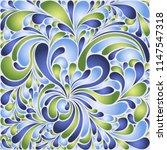 silk texture fluid shapes ... | Shutterstock .eps vector #1147547318