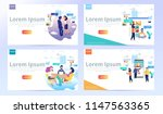 set of web design page... | Shutterstock .eps vector #1147563365