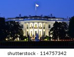 The White House At Night  ...