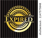 expired gold emblem or badge | Shutterstock .eps vector #1147575848