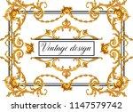 vintage decorative frame | Shutterstock . vector #1147579742
