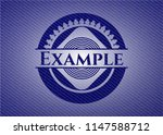 example jean or denim emblem or ... | Shutterstock .eps vector #1147588712