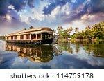 house boat in backwaters near... | Shutterstock . vector #114759178