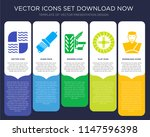 5 vector icons such as car...   Shutterstock .eps vector #1147596398