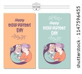 day of the elderly person.... | Shutterstock .eps vector #1147596455