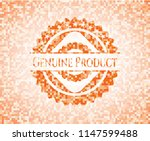 genuine product orange mosaic... | Shutterstock .eps vector #1147599488
