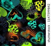 abstract grunge sport pattern... | Shutterstock .eps vector #1147599842