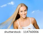 Young woman jogging on a summer day - stock photo