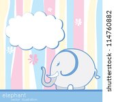 Stock vector greeting with a baby elements vector illustration 114760882