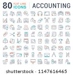 set of vector line icons of... | Shutterstock .eps vector #1147616465