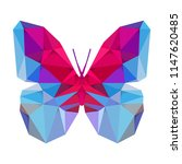 geometric butterfly with many... | Shutterstock .eps vector #1147620485