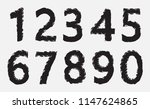 grunge dirty numbers set | Shutterstock .eps vector #1147624865