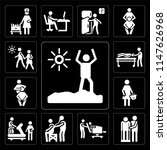 set of 13 simple editable icons ... | Shutterstock .eps vector #1147626968