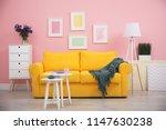 modern living room interior...   Shutterstock . vector #1147630238