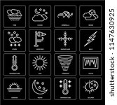 set of 16 icons such as eclipse ...