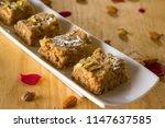 khajoor ki mithai is one of the ... | Shutterstock . vector #1147637585