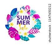 summer sale typography design.... | Shutterstock .eps vector #1147650212