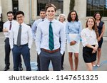 young white businessman and... | Shutterstock . vector #1147651325