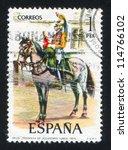 spain   circa 1976  stamp... | Shutterstock . vector #114766102