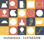 set of 20 icons such as route ...