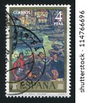 spain   circa 1972  stamp... | Shutterstock . vector #114766696