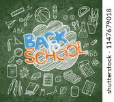 back to school lined supplies... | Shutterstock . vector #1147679018