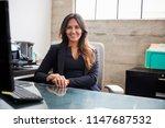mixed race woman with long hair ... | Shutterstock . vector #1147687532