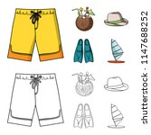 swimming trunks  cocktail with... | Shutterstock .eps vector #1147688252