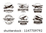 aircraft  airplane  helicopter... | Shutterstock .eps vector #1147709792