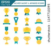 achievment and award icons... | Shutterstock .eps vector #1147710395