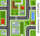 city top view. town map... | Shutterstock .eps vector #1147711082