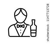 vector icon for bartender | Shutterstock .eps vector #1147713728