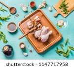 cooking preparation of raw... | Shutterstock . vector #1147717958