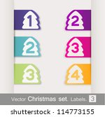 vector set of christmas. | Shutterstock .eps vector #114773155