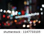 bokeh night life street... | Shutterstock . vector #1147733105