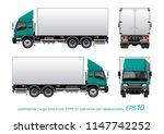vector eps10   commercial cargo ... | Shutterstock .eps vector #1147742252